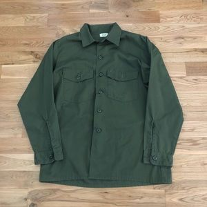 Vintage US Military Army Utility Button Down Shirt
